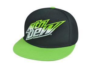 Mtn Mountain Dew Flat Bill Snapback Soda Beverage Green Fountain Drink Hat Cap
