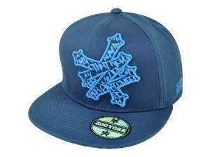 Zoo York Flat Bill Snapback Skate boarding Brand Clothes Hat Cap Navy Adjustable