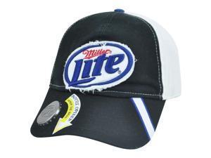 Miller Lite Bottle Opener Distressed Snapback Garment Wash Beer Liquor Hat Cap