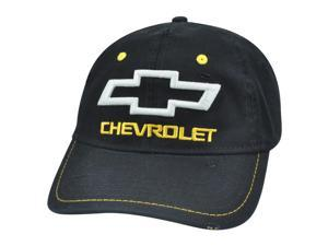 Chevrolet GM Chevy Distressed Black Flex Fit One Size Stretch Car Brand Hat Cap