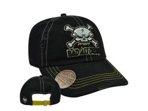 Skull Bad Drunk Built Bottle Opener Garment Wash Distress Sun Buckle Hat Cap