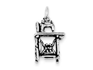 Sterling Silver Antiqued Sowing Machine Charm