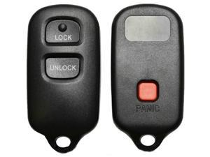 Keyless Entry Remote Fob Replacement Shell Case And Buttons Key Fob Fix Repair 3 Button Square for Toyota FIX YOUR BROKEN REMOTE KEY LOOP OR DAMAGED CASE