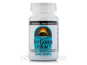 Ivy Gourd Extract 250 mg - 120 Tablets by Source Naturals