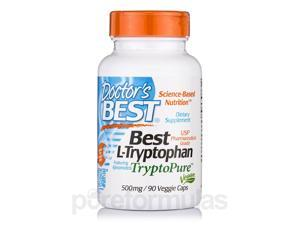 Best L-Tryptophan TryptoPure 500 mg - 90 Veggie Capsules by Doctor's Best