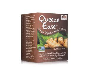 NOW Real Tea - Queeze Ease Tea Bags, Ginger Digestive Herbal Blend - Box of 24