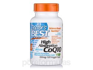High Absorption CoQ10 with BioPerine 100 mg - 120 Veggie Capsules by Doctor's B