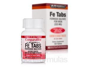 Fe Tabs (Ferrous Sulfate) - 100 Tablets by Windmill