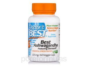 Best Ashwagandha featuring Sensoril 125 mg - 60 Veggie Capsules by Doctor's Bes
