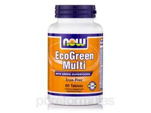 EcoGreen Multi Iron-Free - 60 Tablets by NOW
