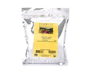 Organic Cumin Whole Seed - 1 lb (453.6 Grams) by Starwest Botanicals