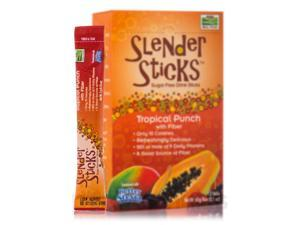 NOW Real Food - Tropical Punch with Fiber Sugar Free Drink Sticks - Box of 12 P