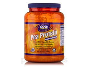 NOW Sports - Pea Protein, Natural Unflavored - 2 lbs (907 Grams) by NOW