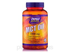 NOW Sports - MCT Oil 1000 mg - 150 Softgels by NOW