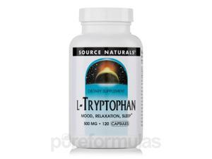 L-Tryptophan 500 mg - 120 Capsules by Source Naturals