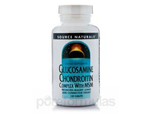 Glucosamine Chondroitn MSM - 120 Tablets by Source Naturals
