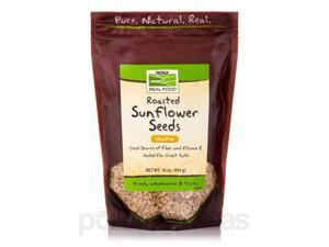 NOW Real Food - Roasted Sunflower Seeds Unsalted - 16 oz (454 Grams) by NOW
