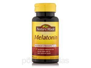 Melatonin 5 mg (Maximum Strength) - 90 Tablets by Nature Made
