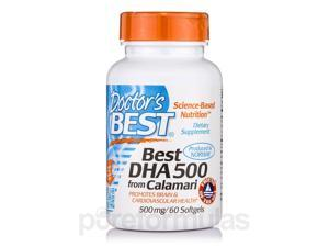 Best DHA from Calamari 500 mg - 60 Softgels by Doctor's Best