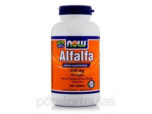 Alfalfa 650 mg - 500 Tablets by NOW