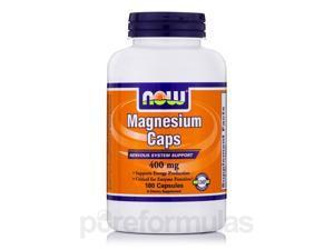 Magnesium Caps 400 mg - 180 Veg Capsules by NOW
