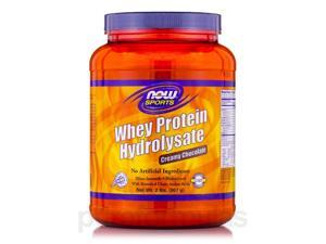 NOW Sports - Whey Protein Hydrolysate, Creamy Chocolate Flavor - 2 lbs (907 Gra