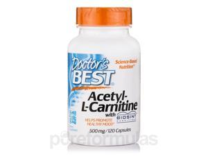 Acetyl-L-Carnitine 500 mg with Biosint - 120 Capsules by Doctor's Best