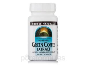 Energizing Green Coffee Extract 500 mg - 30 Tablets by Source Naturals