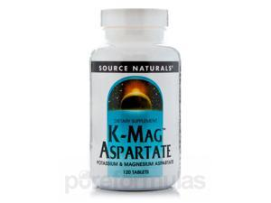 K-Mag Aspartate - 120 Tablets by Source Naturals