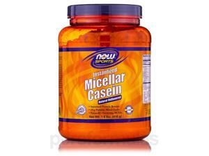 NOW Sports - Micellar Casein, Natural Unflavored - 1.8 lbs (816 Grams) by NOW