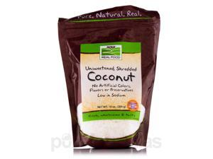 NOW Real Food - Coconut (Unsweetened, Shredded) - 10 oz (284 Grams) by NOW