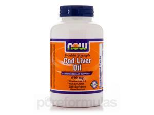 Cod Liver Oil 650 mg - 250 Softgels by NOW