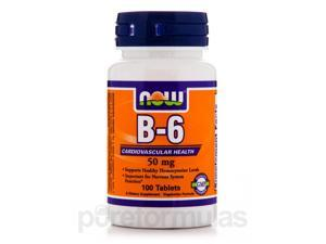 B-6 50 mg - 100 Tablets by NOW