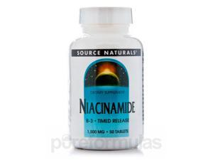 Niacinamide 1500 mg T/R - 50 Tablets by Source Naturals