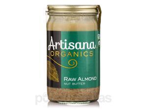 Organic Raw Almond Nut Butter - 14 oz (397 Grams) by Artisana