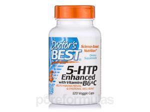 5-HTP Enhanced with Vitamins B6 & C - 120 Veggie Capsules by Doctor's Best