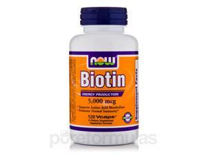 Biotin 5000 mcg - 120 Vegetarian Capsules by NOW