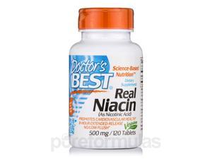 Niacin Time-Release with NiaXtend 500 mg - 120 Tablets by Doctor's Best