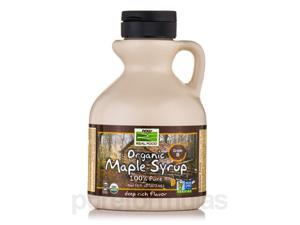 NOW Real Food - Organic Maple Syrup (Grade A Dark Color) - 16 fl. oz (473 ml) b