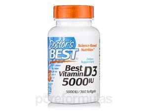 Best Vitamin D3 5000 IU - 360 Softgels by Doctor's Best