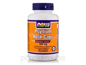 Psyllium Husk Caps 500 mg - 200 Veg Capsules by NOW