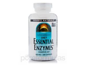 Essential Enzymes 500 mg - 240 Capsules by Source Naturals