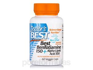 Best Benfotiamine 150 + Alpha-Lipoic Acid 300 - 60 Veggie Capsules by Doctor's B