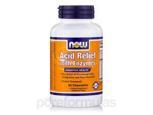 Acid Relief with Enzymes - 60 Chewables Tablets by NOW