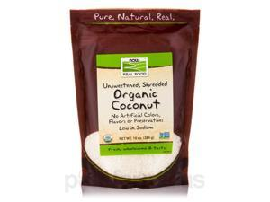 NOW Real Food - Organic Coconut (Unsweetened, Shredded) - 10 oz (284 Grams) by