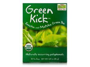 NOW Real Tea - Green Kick Tea Bags - Box of 24 Packets by NOW