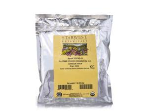 Organic Cayenne Powder 35,000 H.U. - 1 lb (453.6 Grams) by Starwest Botanicals
