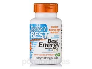 Best Energy featuring Niagen 75 mg - 60 Veggie Capsules by Doctor's Best