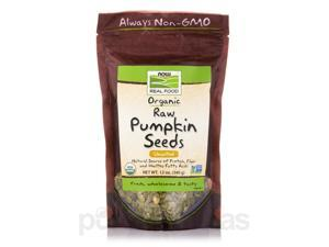 NOW Real Food - Organic Pumpkin Seeds, Raw, Unsalted - 12 oz (340 Grams) by NOW