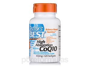 High Absorption CoQ10 with BioPerine 100 mg - 120 Softgels by Doctor's Best